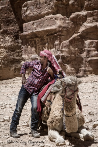 Petra, Jordan, desert, camel, rider, portrait, travel photography
